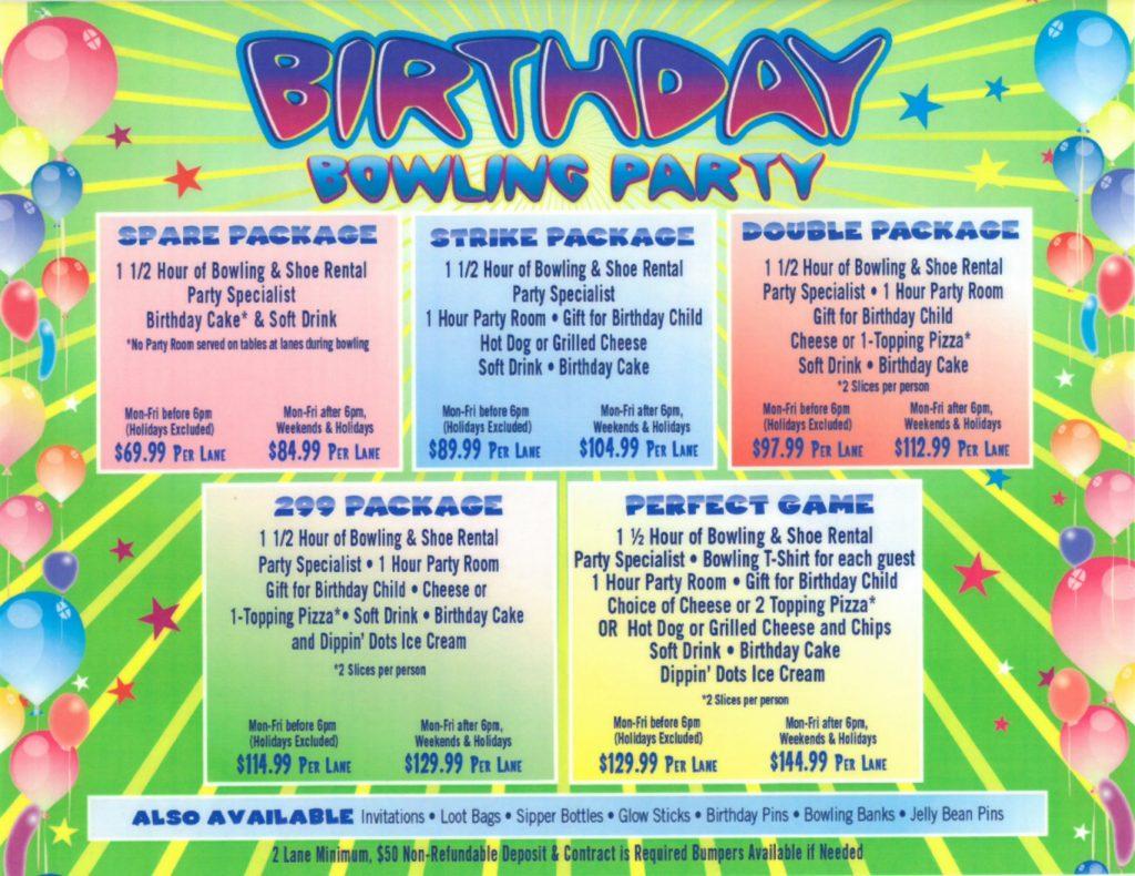 Santa Clarita Lanes Birthday Parties